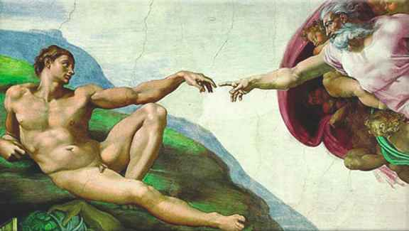 Michelangelo God