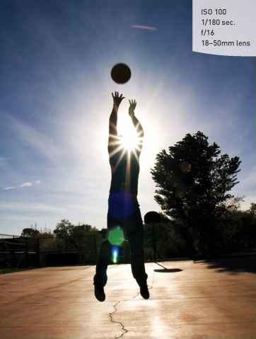 Stop Motion Basketball Silhouettes