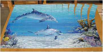 Dye Sublimation Tile Murals