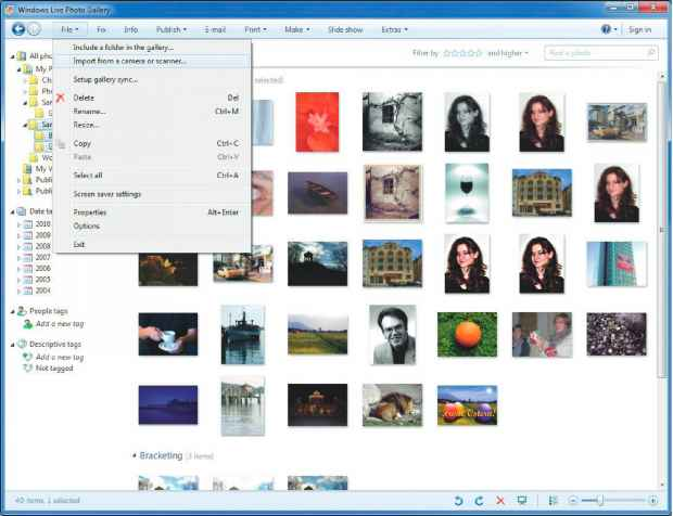 Windows Digital Camera Import Wizard