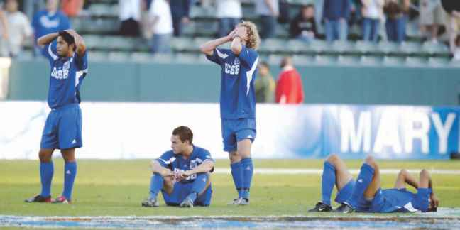 Dejected Soccer Players